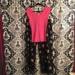 Heart & Owl Pajama Pant Set